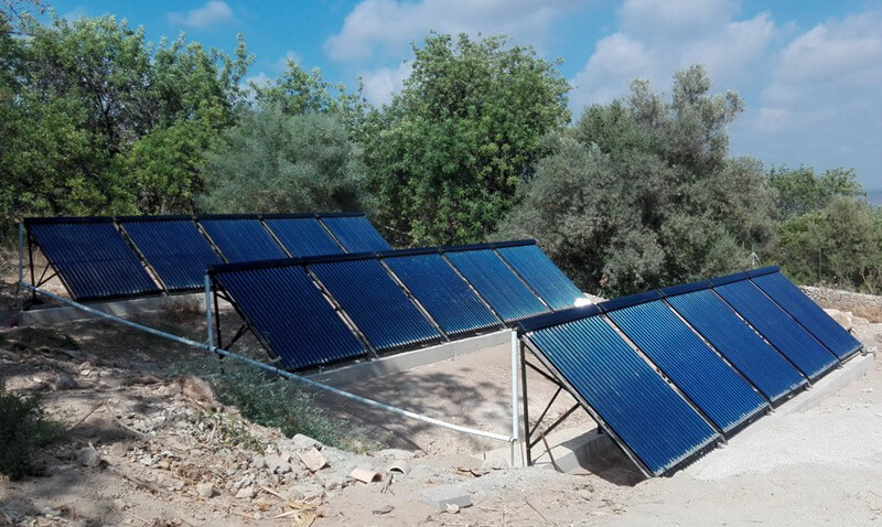 how to install solar water heater
